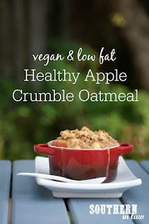 Single Serve Healthy Apple Crumble Oatmeal Recipe