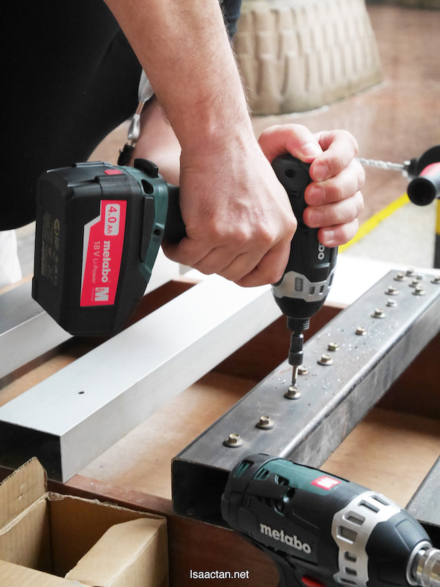 Heavy duty tools can go through thick materials quickly