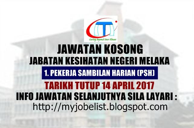 Jawatan Kosong Jabatan Kesihatan Negeri Melaka April 2017