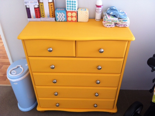 Little Baby Pickle: Yellow Chest of Drawers