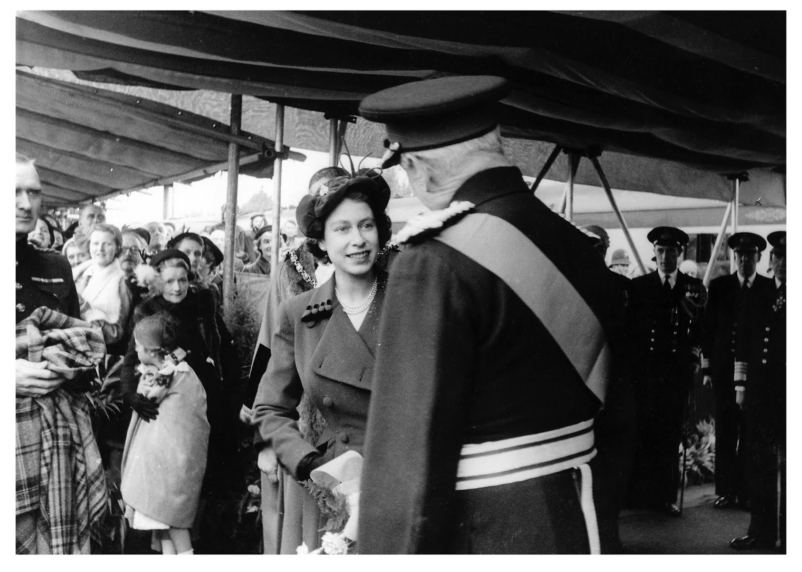 The Queen at Fort Brockhurst 1952