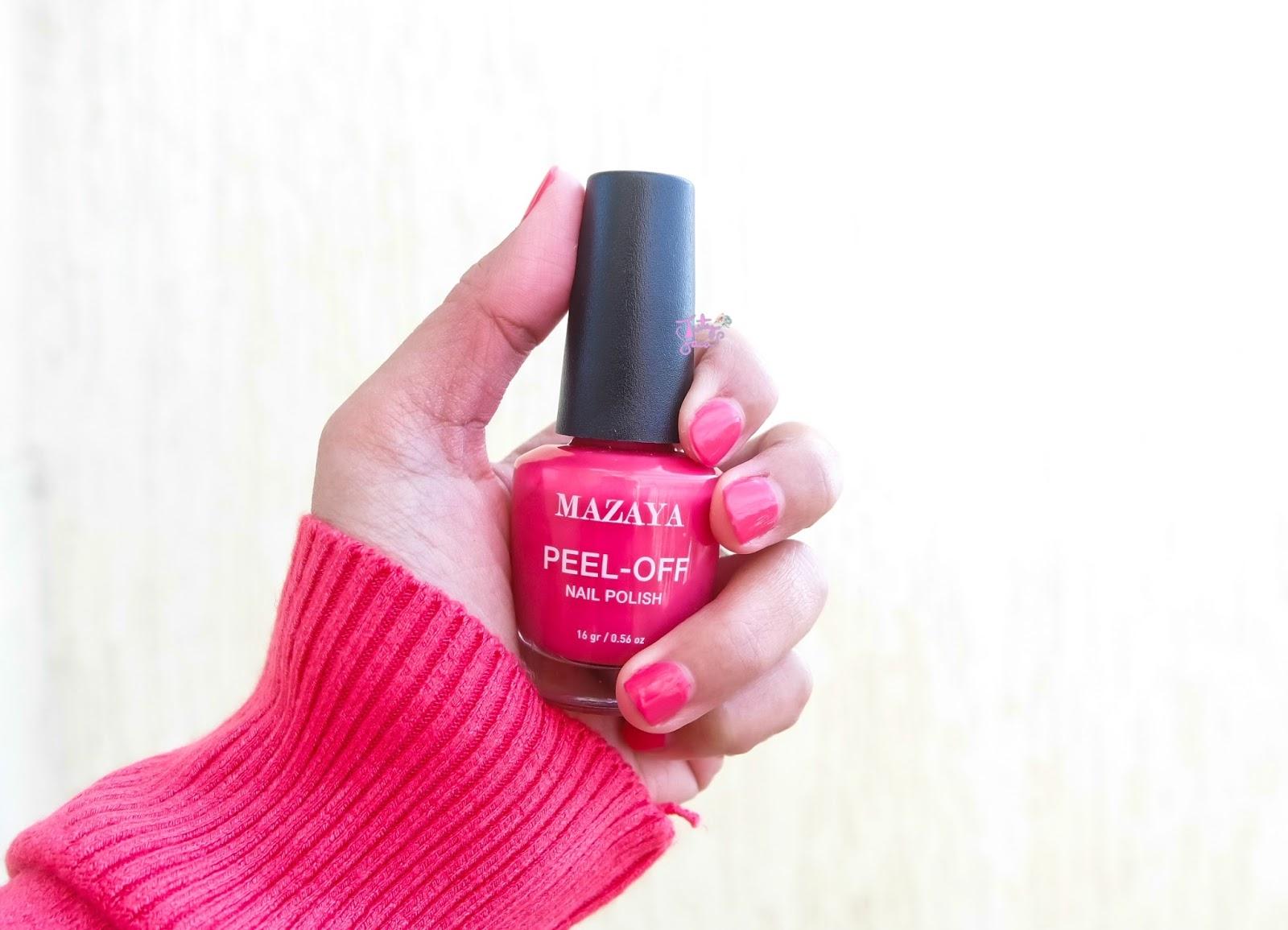 Image result for Mazaya Peel-off Nail Polish