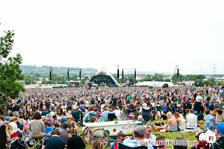 Glastonbury Festival. 2013. The Pyramid Stage. Show.