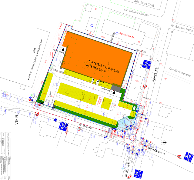 Sens giratoriu la fosta Ugira. Cum va arăta viitorul magazin LIDL din Zamca