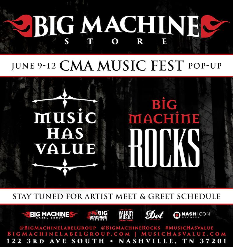 2016 Big Machine Pop Up Store Announced! ~ 2019 CMA Fest