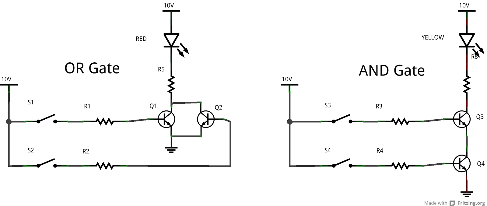 Electronics Projects And Tutorials February 2013 Not Logic Gate Transistor Circuit In The Next Part We Will Look At Integrated Circuits That Contains Four To Six Gates Of Same Kind 74 Series This Help Us