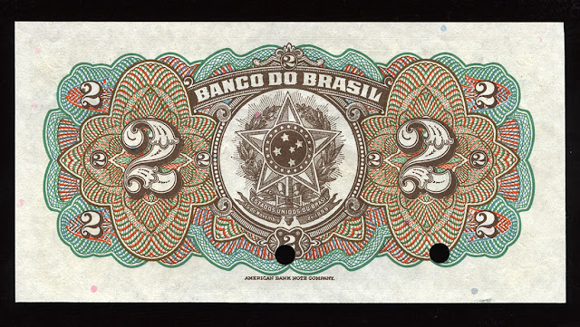 Cédula Banco Brasil Dois Mil Reis