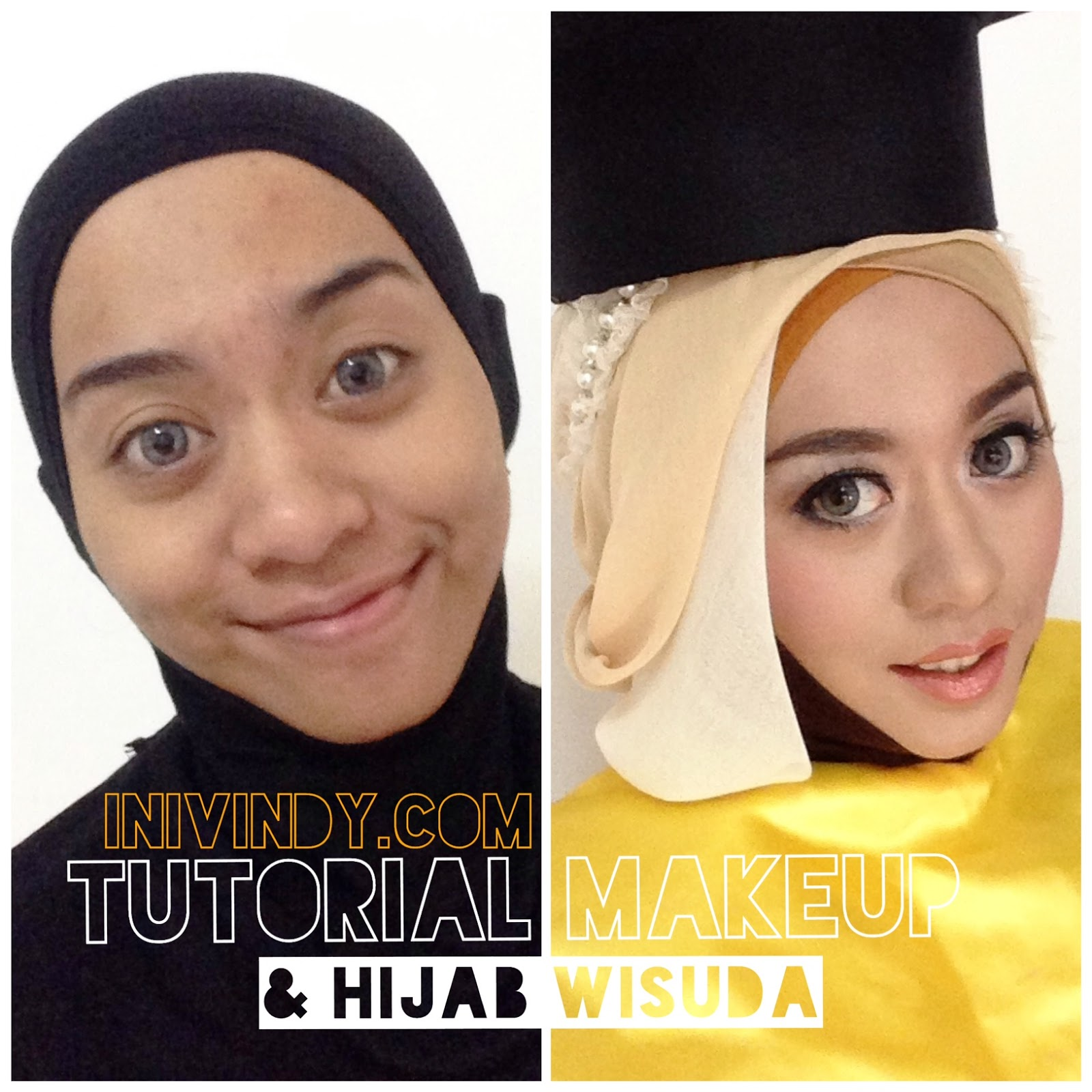 Tutorial Make Up Natural Dan Hijab Wisuda Ala Vindy ...