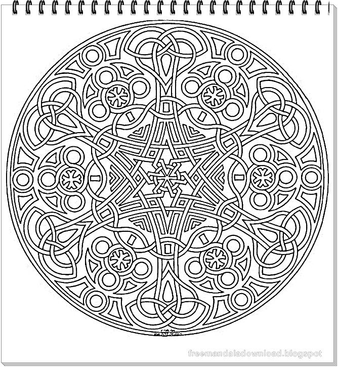 Mandala Runde Malvorlagen - Free Mandala