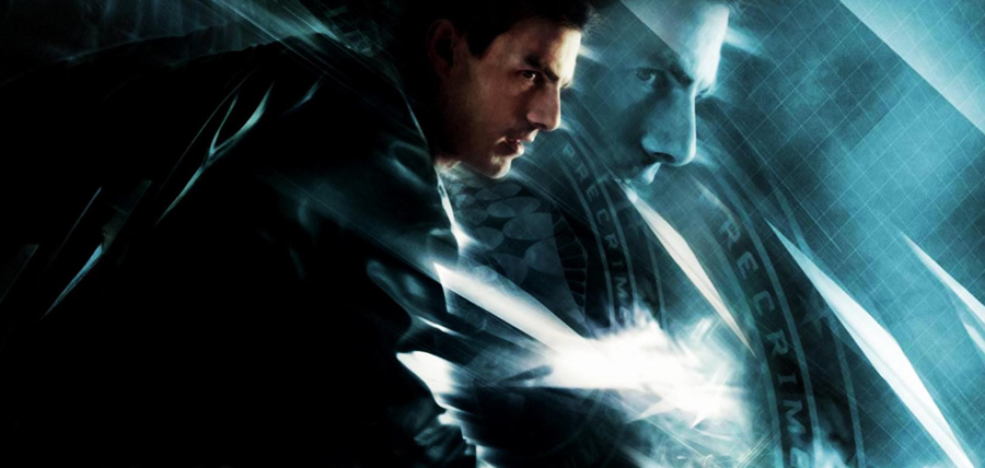 Tom Cruise în filmul sci-fi Minority Report