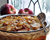 December - Breakfast Casserole with Sausage, Apples & Caramelized Onions