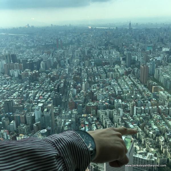 view from Tapei 101, in Taipei, Taiwan