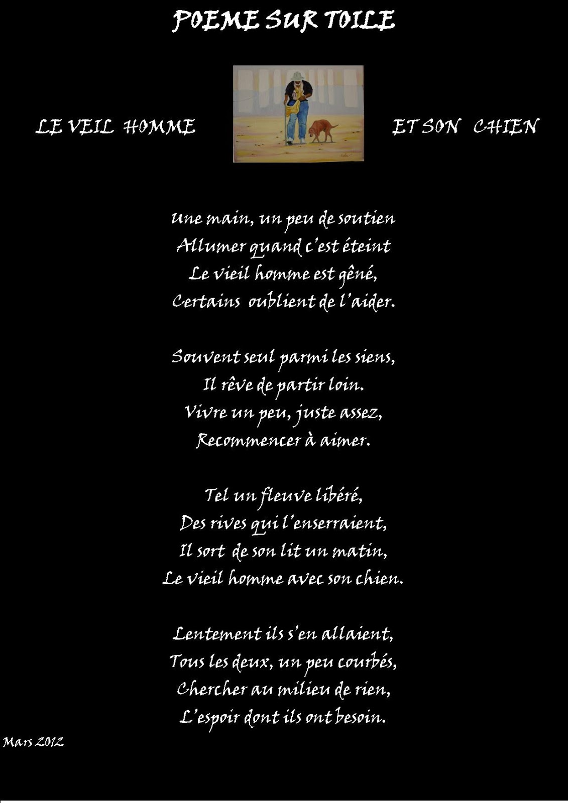 Poésie Sur Toile Elias Ochen Poeme Le Vieil Homme Et Son