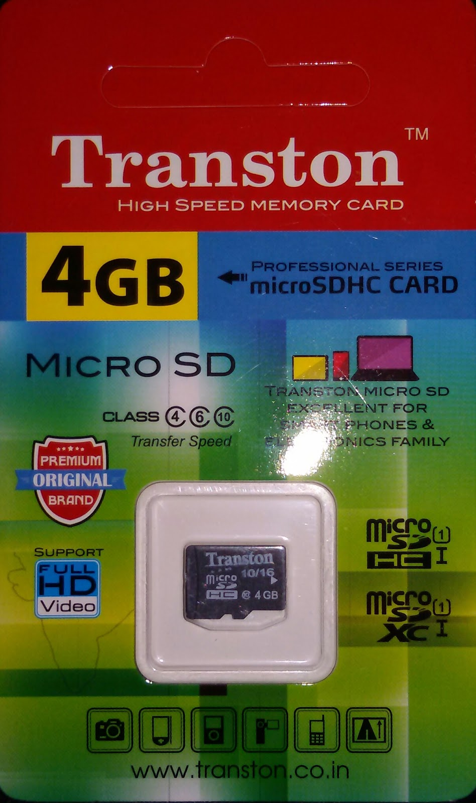 Transton 4gb High Speed Memory Card Micro Sd Hc Sk Noorbasha Sandisk