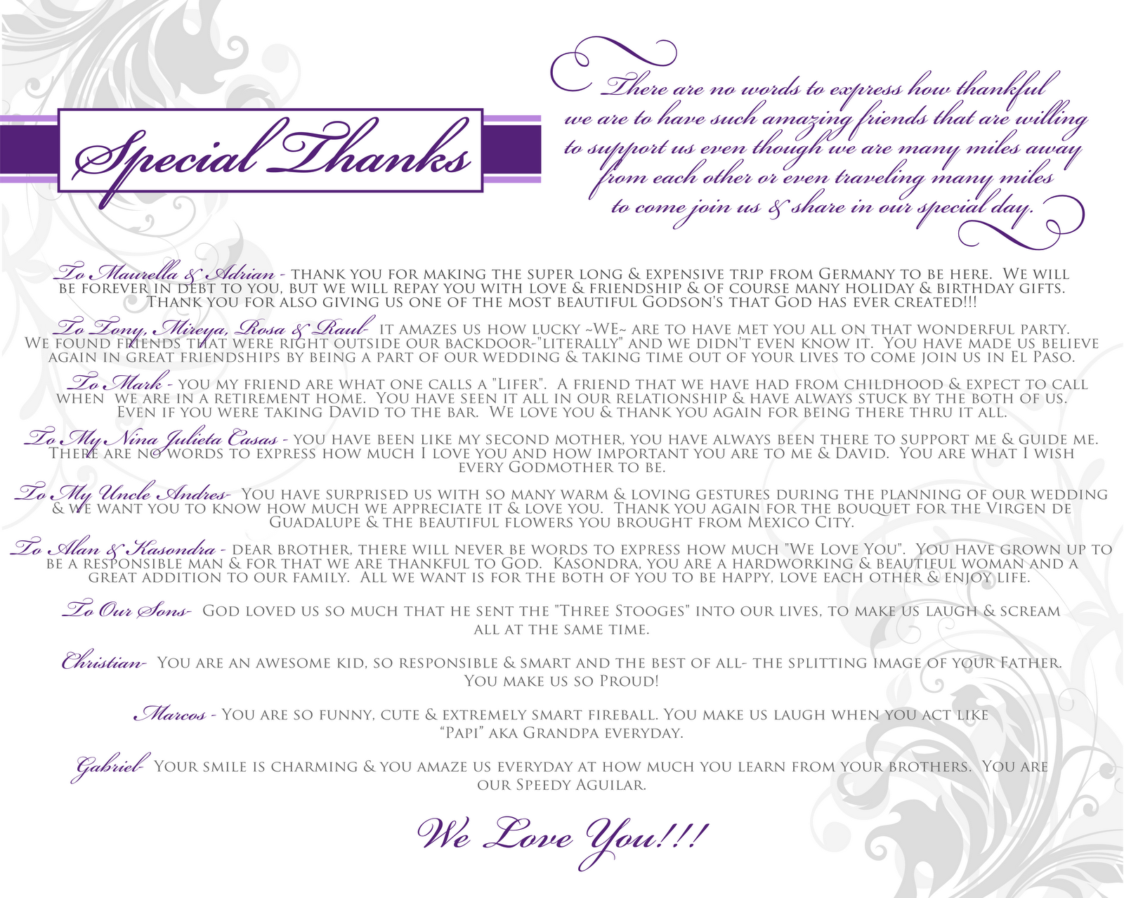 Signatures by Sarah: Wedding Stationery for Alba