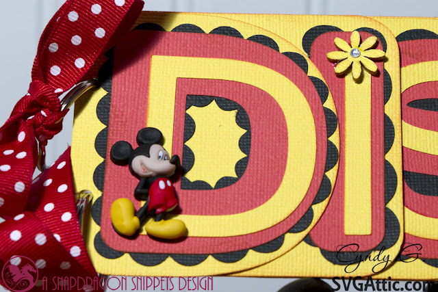 Close up of D, in Disney