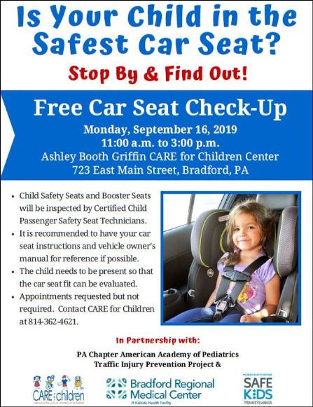 9-16 Child Safety Seat Check in Bradford