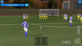 Cara mencetak gol melalui tendangan bebas di dream league soccer.