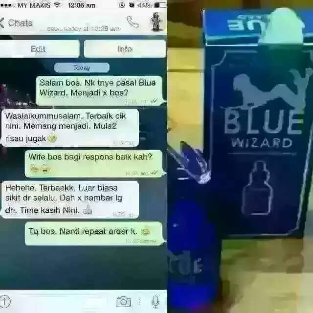 petua tradisional blue wizard cecair perangsang wanita