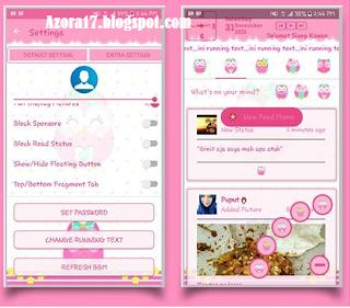 New BBM MOD Pink Owl Thema Burung Hantu Apk v3.2.0.6 Full Color Unclone Terbaru