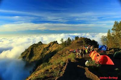 Keindahan zenit gunung rinjani lombok