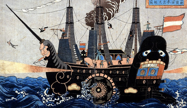 Japanese Depiction of a Black Ship (from MIT Visualizing Culture)