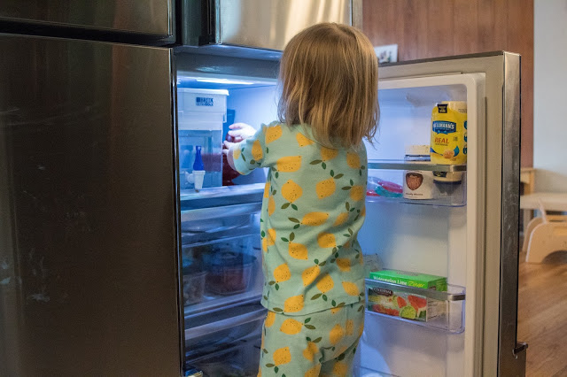 Using a children's fridge in a Montessori home, plus healthy snack ideas for young kids