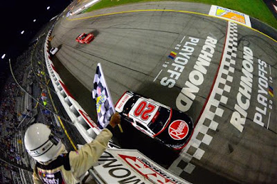 Christopher Bell takes the checkered flag to win the Go Bowling 250.