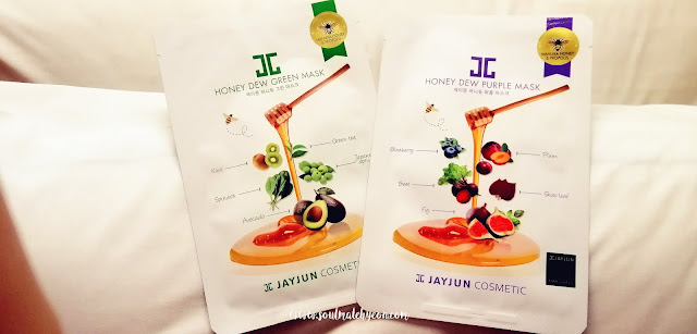 Review; Jayjun Cosmetic's Honey Dew Green Mask & Honey Dew Purple Mask + First Impression