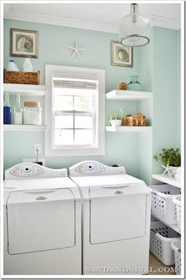 Contoh Model Kamar Ruang Tempat Cuci Laundry Baju Sederhana Minimalis untuk Ruang  Kecil Sempit