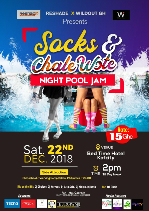 CHALE WATE AND SOCKS NIGHT POOL PARTY 2018- BEDTIME