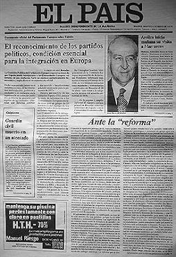 Portada del primer número de EL PAÍS (4/5/2016)