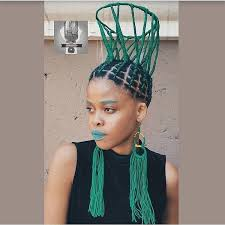 lady rocks basketball court inspired hairstyle
