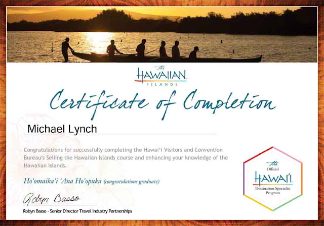 Hawaii Destination Specialist Certificate