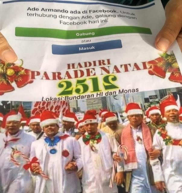 Ade Armando Dipolisikan soal Postingan Habib Rizieq Pakai Atribut Natal