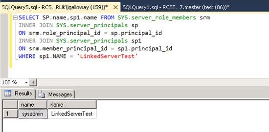 Linked Server Security – SQLServerCentral