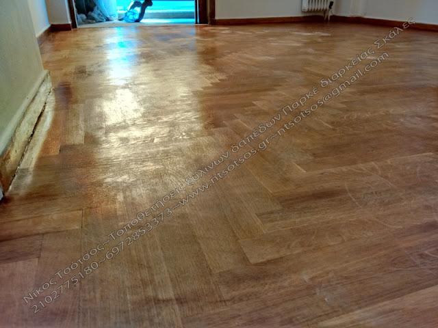 κάκιστη συντήρηση σε ξύλινο πάτωμα
