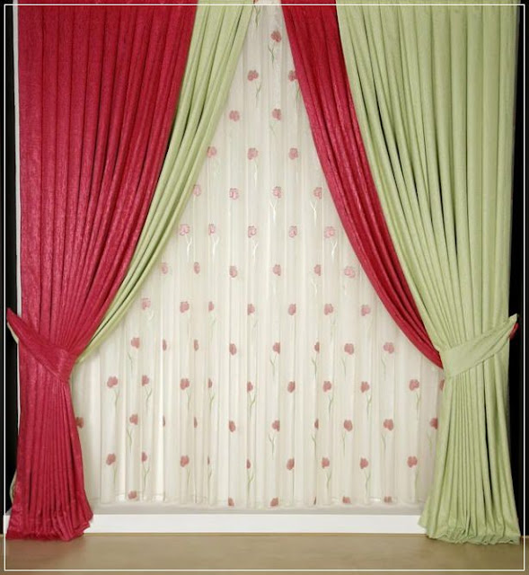 beige and red curtain ideas for living room