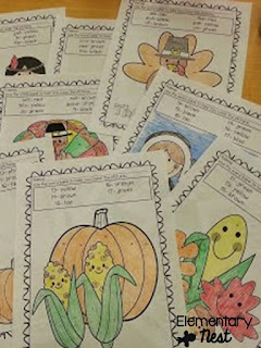Coloring Sheets- November Resources and two FREEBIES to use in November for primary classrooms- fall activities
