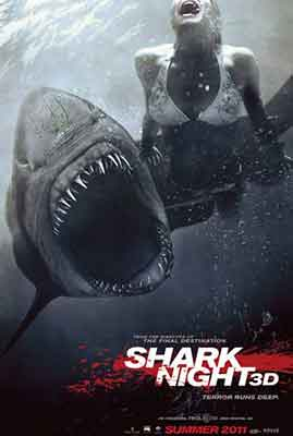 Shark Night 3D, poster de la película dirigida por David R. Ellis