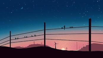 Sunrise, Scenery, Illustration, Digital Art, 4K, #4.2007