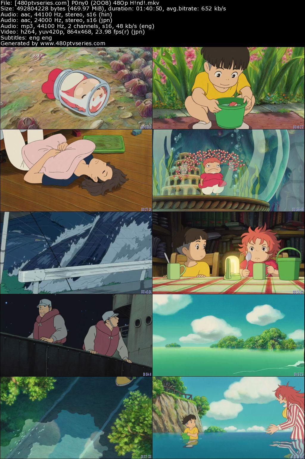 Ponyo (2008) 450Mb Full Hindi Dual Audio Movie Download 480p Bluray Free Watch Online Full Movie Download Worldfree4u 9xmovies