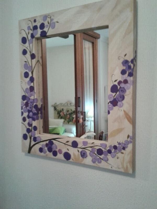 espejos decorativos con marco de imagui