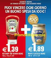 Logo Con Tomato Ketchup e Maionese Heinz vinci buoni spesa da 100 euro