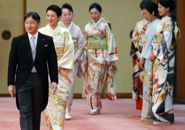 Crown Prince Akishino, Crown Princess Kiko, Princess Mako, Princess Kako and other members of the Imperial Family