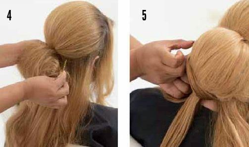 Como hacer un peinado recogido con crepe