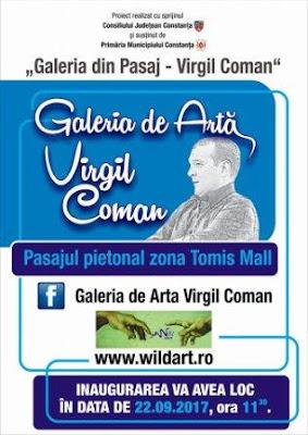 Afiș galerie Virgil Coman