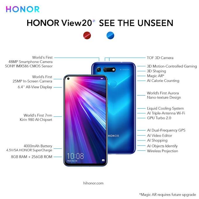 موصفات وسعر هاتف HONORView20