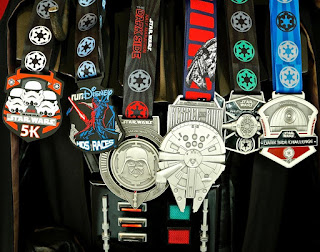runDisney Star Wars Half Marathon running race medals