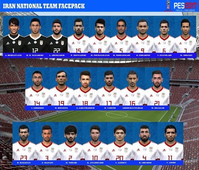 Iran Facepack 2018 PES 2017